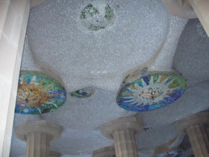 Parque Guell ceiling
